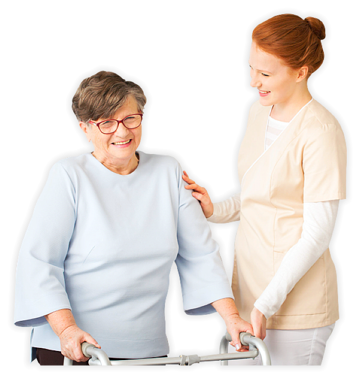 senior woman and her caregiver